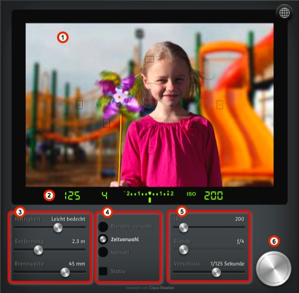 Die Elemente von CameraSim